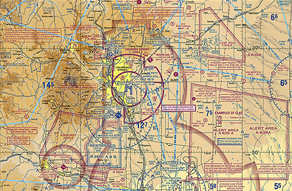 Sample Colorado Springs Airspace Map