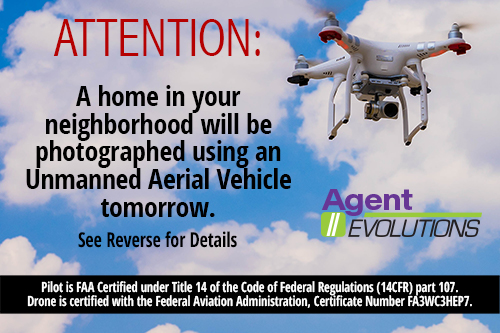 Drone Photography Notification Card